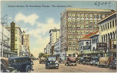 Central Avenue, St. Petersburg, Florida, the sunshine city