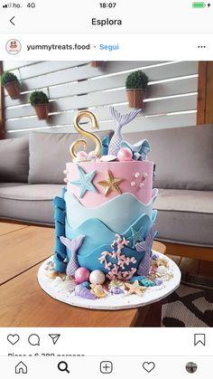35 Pretty cake designs for any celebration, pretty birthday cake ideas, celebration cakes birthday cake ideas, birthday cake photos Mermaid Birthday Cakes, Pretty Birthday Cakes, Little Mermaid Birthday, Mermaid Cakes, Pretty Cakes, Mermaid Cake Pops, Barbie Birthday Cake, Bolo Sofia, Bolo Diy