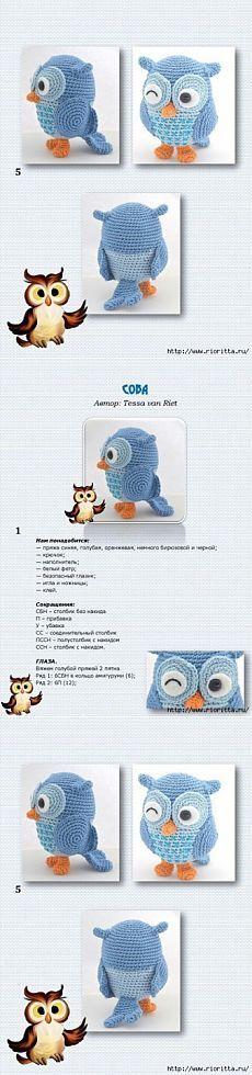 Любителям совушек, милый вязаный совенок! / Мир игрушки / Вязаные игрушки. Мастер-классы, схемы, описание.