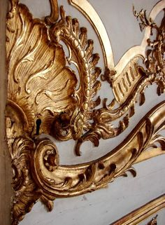 #Boiserie - French term used to define ornate and intricately carved wood panelling particularly of the 18th century style - #rococo