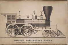 Mid-1800s locomotive lithographs - Design daily news