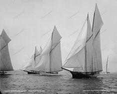 Sail Boat Race Vintage 1887 Vintage 8x10 Reprint Of Old Photo