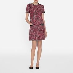 Discover our collection of luxury women's dresses, crafted using the finest silks, tweeds, lace and jersey. Chanel Style Jacket, Opaque Tights, Tweed Dress, Dressmaking, New Dress, Work Wear, Designer Dresses, Cold Shoulder Dress, Short Sleeve Dresses