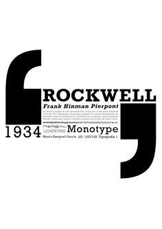 rockwell tipografia - Buscar con Google