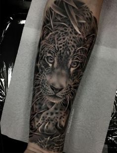Awesome Leopard Tattoo Leopard Tattoos Full Sleeve Tattoos Realistic Leopard Realism Tattoo For Men S Sleeve Tattoo Design Ash . Mens Sleeve Tattoo Designs, Mens Forearm Sleeve Tattoo, Best Sleeve Tattoos, Tattoo Designs Men, Jaguar Tattoo, Animal Sleeve Tattoo, Lion Tattoo Sleeves, Leopard Tattoos, Jungle Tattoo