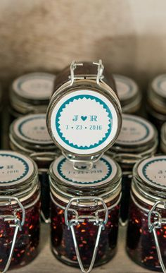 homemade jam favours
