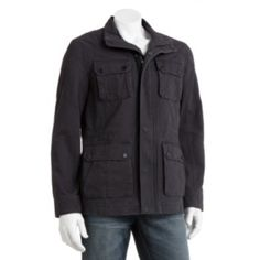 Marc Anthony Slim-Fit 4-Pocket Military Jacket - Men