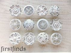 """1 QUANTITY IS FOR 12 PAINTED KNOBS ******************************************* 1.25"""" - 1.5 diam. size varies with misfit sets  Made of metal - Distressed bright white over black - Durable and washable finish - Comes with mounting screws  ♥´¨) ¸.•´ ¸.•*´¨)¸.•*¨) (¸.•´ (¸.•`♥~ OTHER MISFIT KNOBS: https://www.etsy.com/ca/shop/Firstfinds?ref=l2-shopheader-name&search_query=misfit+knobs ♥´¨) ¸.•´ ¸.•*´¨)¸.•*¨) (¸.•´ (¸.•`♥~ SHIPPING INFO: Shipping cost are currently set for small purchases. If…"""