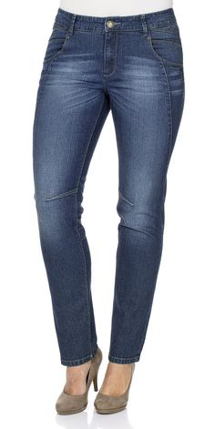 Typ , Stretch-Jeans, |Materialzusammensetzung , 98% Baumwolle, 2% Elasthan, |Waschung , dark denim used, |Beinform , schmale Form, |Passform , schmale Form, |Länge , Lang, |Anlass , Everyday, |Innenbeinlänge , N-gr. 80,5 cm, K-Gr. 75,5 cm, L-Gr. 87,5 cm, | ...