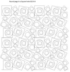 Shop | Category: Bread and butter E2E Patterns | Product: Round pegs in a Square Hole E2E
