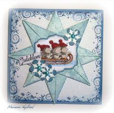 Stjerner hører julen til, og i dag har jeg lyst til å vise dere en brettet stjerne, som er lekker som et lite kort i seg selv, eller det ka...