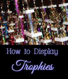 If you or your children have a trophy collection for sports, academics, or other achievements, the collection can easily look junky if not displayed properly.   Here are some ideas, tips, and tricks for displaying trophies in a neat and organized manner.