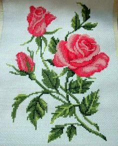 This Pin was discovered by Nan Cross Stitch Pillow, Cross Stitch Love, Beaded Cross Stitch, Cross Stitch Borders, Crochet Cross, Cross Stitch Flowers, Cross Stitch Charts, Cross Stitch Designs, Cross Stitching