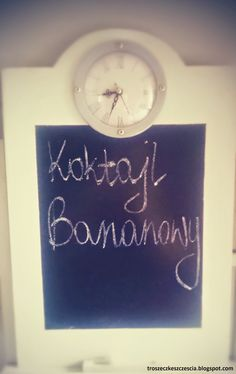 Troszeczkę Szczęścia: •Koktajl Bananowy • na dzień dobry :)