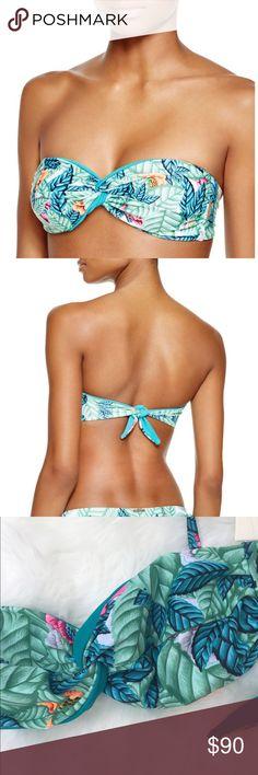 Mara Hoffman Twist bikini leaf green Bandeau NWT Mara Hoffman Bandeau Bikini top. Twist front. Removable straps. Size XS Mara Hoffman Swim Bikinis