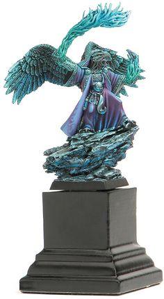 Sorcerer of Tzeentch for Warhammer Fantasy Battles Warhammer Figures, Warhammer 40k Miniatures, Warhammer Fantasy, Fantasy Paintings, Mini Paintings, Minis, Chaos Daemons, Fantasy Model, Fantasy Battle