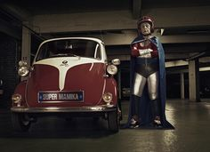 Grandma's Superhero Therapy--so wonderful! A few years ago, French photographer Sacha Goldberger found his 91-year-old Hungarian grandmother Frederika feeling lonely and depressed. To cheer her up, he suggested that they shoot a series of outrageous photographs in unusual costumes, poses, and locations. Grandma reluctantly agreed, but once they got rolling, she couldn't stop smiling.
