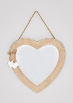 Wooden Heart Hanging Mirror (30cm x 30cm)