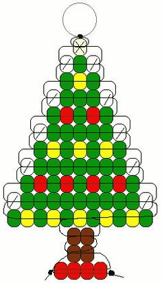 Christmas tree pony beads pattern