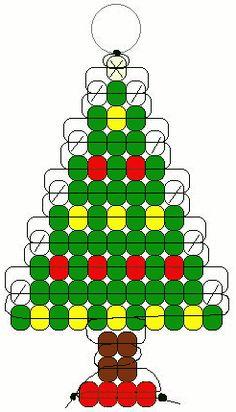 Christmas tree pony beads pattern
