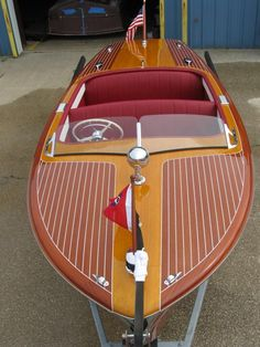 1950 Chris-Craft Riviera - The Wooden Runabout Company Wooden Canoe, Wooden Boat Plans, Wooden Speed Boats, Chris Craft Boats, Classic Wooden Boats, Boat Design, Yacht Design, Boat Projects, Build Your Own Boat