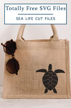 Use this Totally Free Sea Life SVG File from Everyday Party Magazine to make a darling shirt, bag, or decal this Summer! #Beach #Turtle #TotallyFreeSVG #CutFilesForCricut