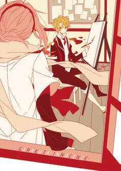 Eruna & Kyoma | Mikagura Gakuen School Life, Light Novel, Doujinshi, Illustration Art, Illustrations, Anime Couples, Vocaloid, Manhwa, Anime Characters