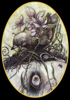 jeremy hush vexed ball point pen and watercolor | Flickr - Photo Sharing!
