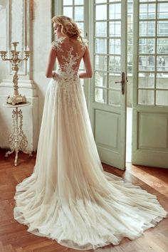 Wedding dress idea; Featured Dress: Nicole Spose