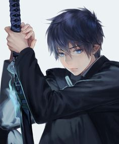Ao No Exorcist -this is a really cool picture of Rin...I really need to start watching this anime again.