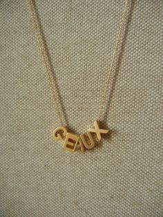 Hey, I found this really awesome Etsy listing at https://www.etsy.com/listing/110042868/gold-geaux-necklace
