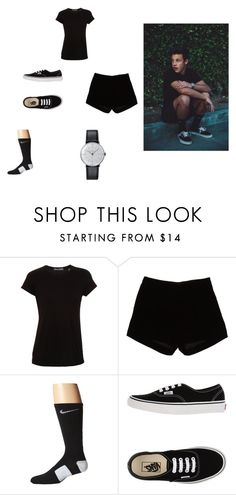"""all black outfif by Tin Can Dallas AKA Cameron Dallas"" by peace-girl23 on Polyvore featuring Vince, Andrew Gn, NIKE, Vans and Klein & more"