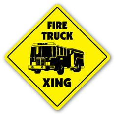 FIRE TRUCK CROSSING Sign new xing signs station man Zanysigns http://www.amazon.com/dp/B001A1NM4E/ref=cm_sw_r_pi_dp_ps-aub111G9X9