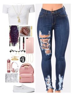 """""""Untitled #477"""" by princessnyaaa ❤ liked on Polyvore featuring Vans, Lilou, Tiffany & Co., Gucci, Moschino, Maria Francesca Pepe, Beats by Dr. Dre, Cartier and Marc Jacobs"""