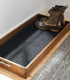 diy furniture Find the best Everyspace Recycled Waterhog Boot Mat at . Our high quality home goods are designed to help turn any space into an outdoor-inspired retreat. Do It Yourself Decoration, Do It Yourself Ideas, Boot Tray, Diy Casa, Home Organization, Woodworking Organization, Organizing Shoes, Garage Workshop Organization, Bathroom Organisation