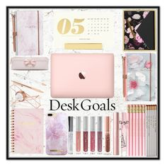 """Desk Goals"" by unicornofnetflix ❤ liked on Polyvore featuring interior, interiors, interior design, home, home decor, interior decorating, Kate Spade, Ted Baker, He Said, She Said and U Brands"