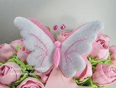 borboleta de feltro