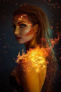 The is proud to feature the work of 📷Photographe High Fantasy, Fantasy Girl, Fantasy Photography, Girl Photography, Fantasy Inspiration, Character Inspiration, Story Inspiration, Fire Makeup, Makeup Art
