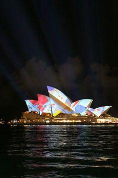 vivid, colorful sydney opera #australia