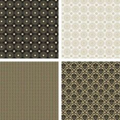 Log in at docrafts.com and download these fantastic FREE Black and Gold Pattern Collection printable papers.