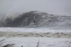 Holy crap - Hurricane Sandy surf break at OCEAN CITY, MD