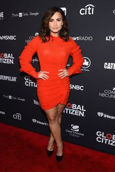 All Your Favorite Stars Were at the Global Citizen Festival This Weekend When Demi Lovato Wore Fiery Red on the Carpet