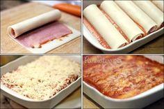 Sabe aqueles pacotes de massa fresca já cozida que a gente encontra em supermercado? Então, além da tradicional lasanha dá para fazer outros formatos, como esse canelone super prático. Olha a facil…