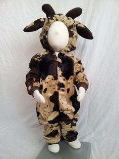 Toddler Size 18-24 Months Chocolate Brown Cow Costume