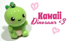 ◕‿‿◕ Dino! Kawaii Friday 66 (Tutorial in Polymer Clay) (+playlist)
