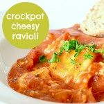 Crockpot Cheesy Ravioli Recipe This makes enough for a large crowd!
