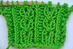 How to Knit * Lace Stitch cablelike