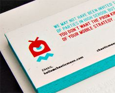 Chaotic moon studios colateral business card pinterest chaotic moon business cards branding colourmoves Images