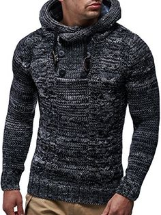 New Males Sweaters Knitted Mens Informal Sweaters Man Hooded Pullover Cotton Sweatercoat Males Hooded Slim Sweater Pullover Pull Homme Male Sweaters, Casual Sweaters, Sweaters Knitted, Pullover Hoodie, Hooded Sweatshirts, Men's Hoodies, Pullover Sweaters, Swagg Man, Hooded Sweater