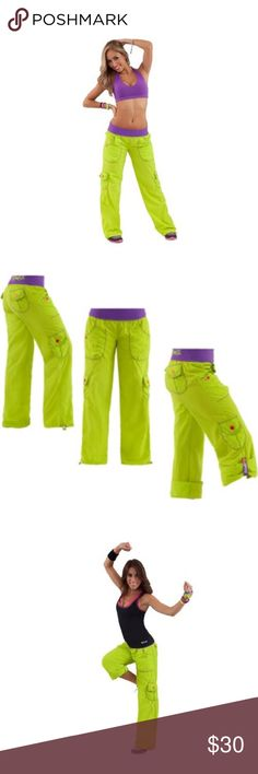 NWOT Zumba Highlighter Cargo Pants Item is new without tags and has never been worn. Comes from a smoke and pet free home. Zumba Fitness Pants